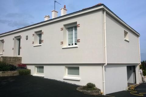 Exemples de r alisations sur les secteurs de pouzauges et for Peinture de facade exterieur