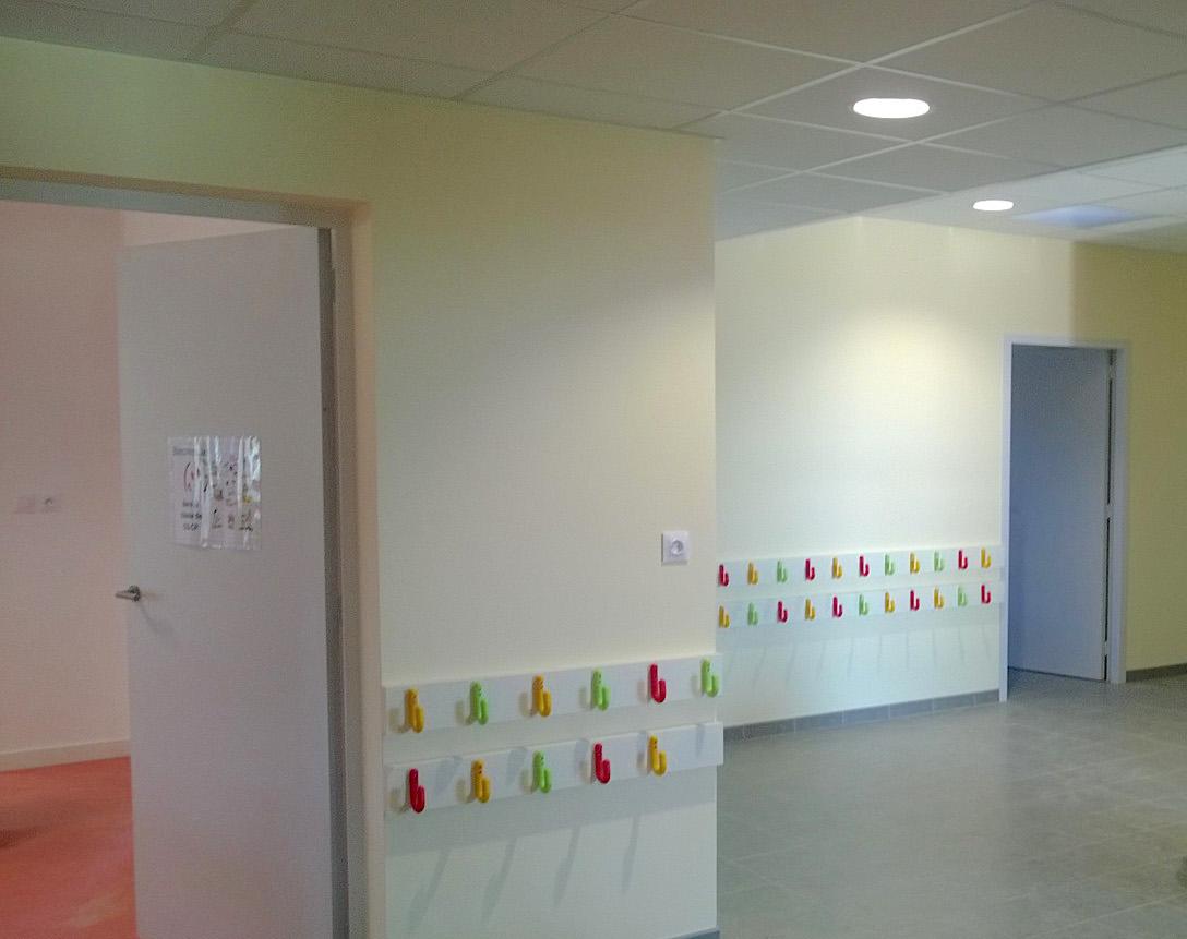 Peinture de couloirs école