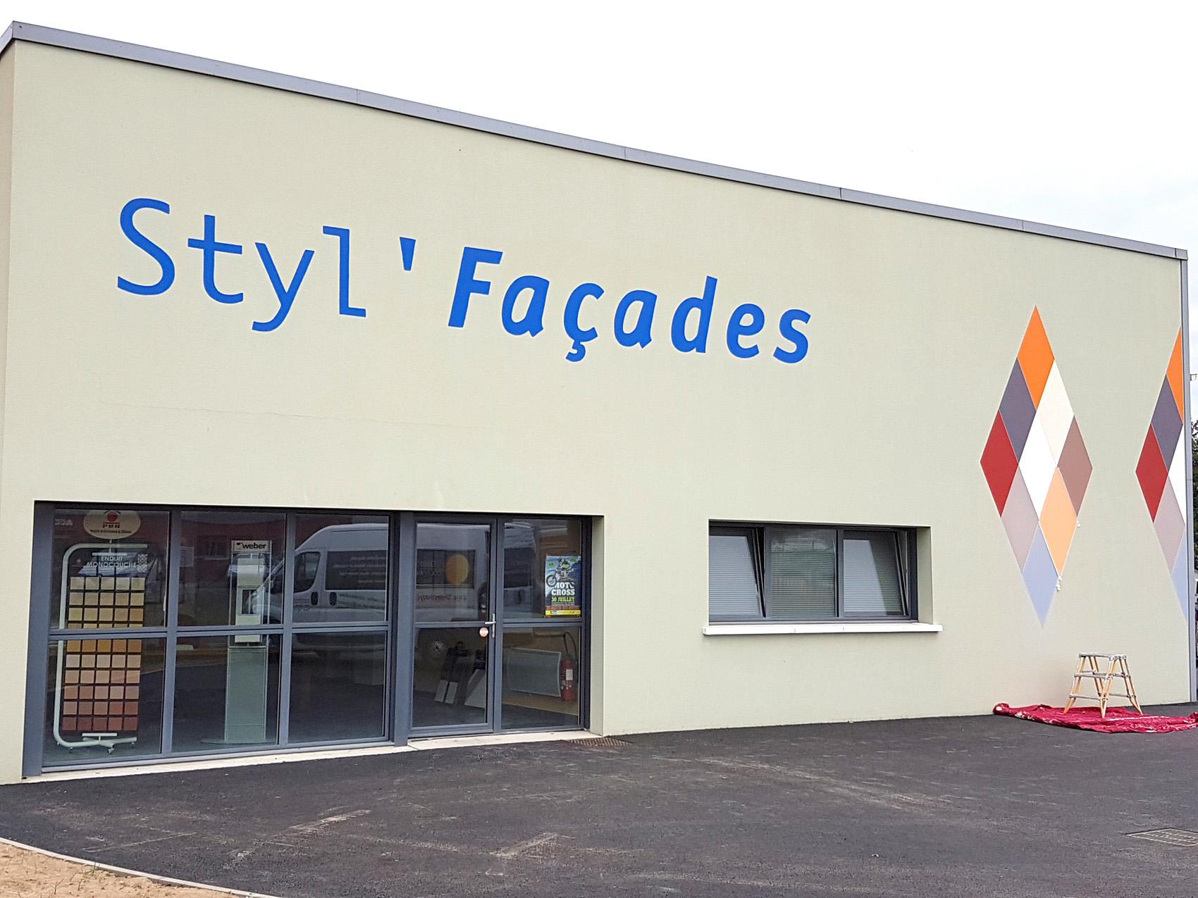 Peinture de façade entreprise à Sèvremont