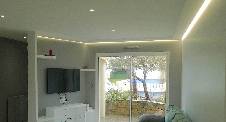 Plafond lumineux séjour