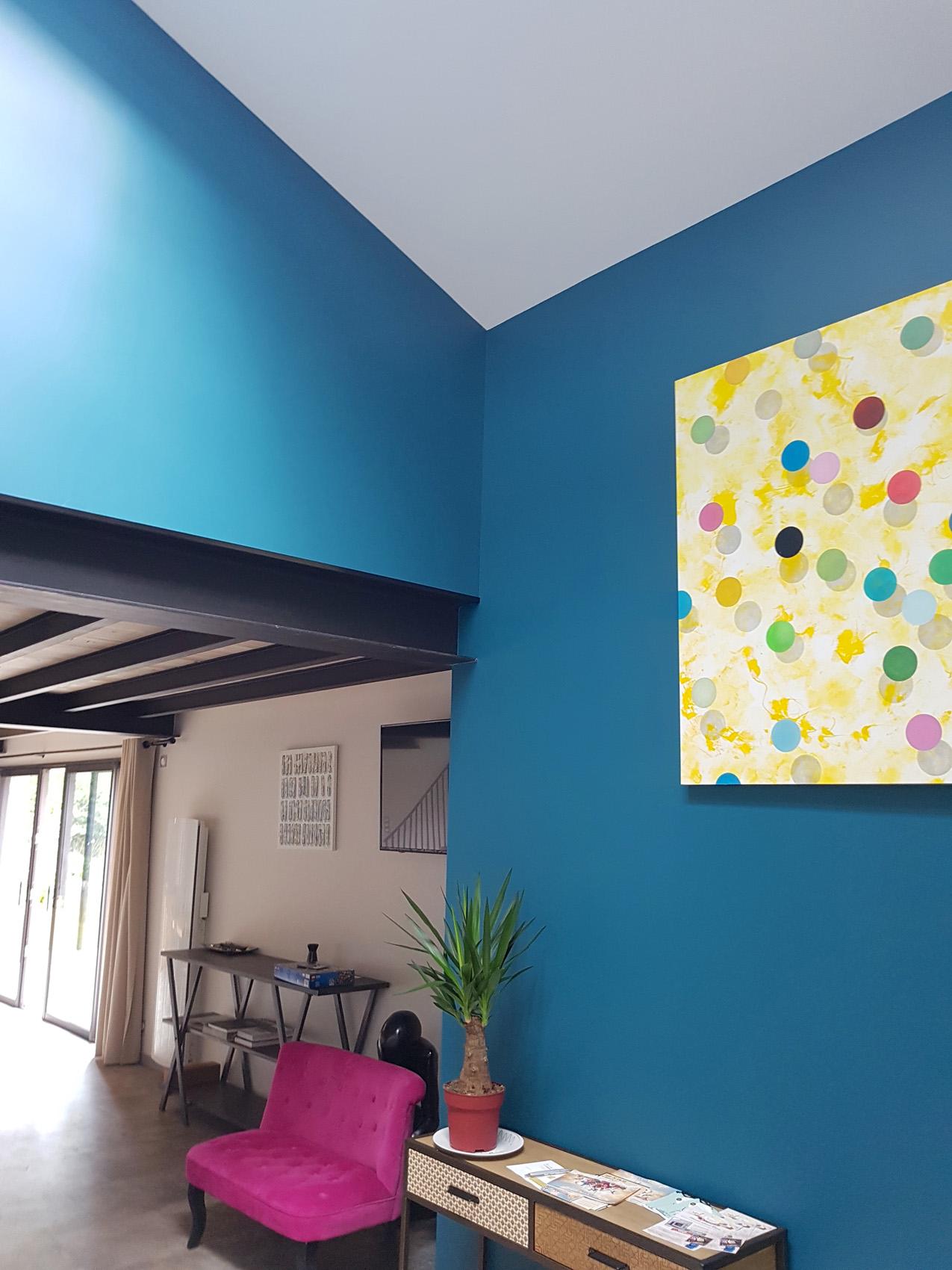peinture mur bleu FB Decostyl Sèvremont