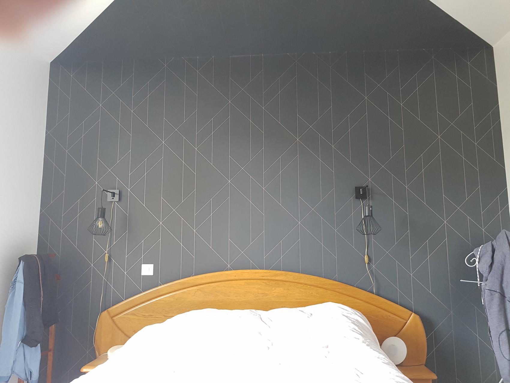 tapisserie mur chambre FB Decostyl Sèvremont