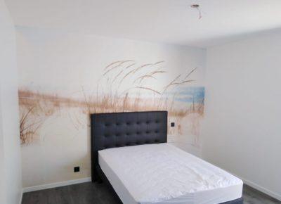 tête de lit peinture et effet