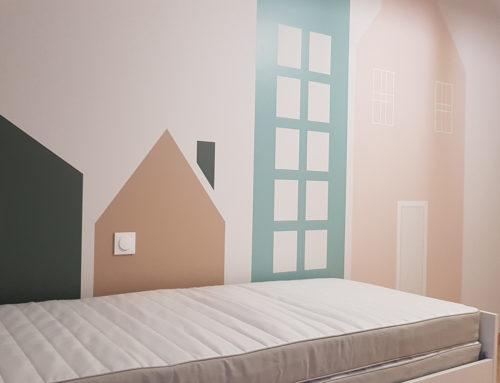 Chambre – Peinture géométrique – Sevremont