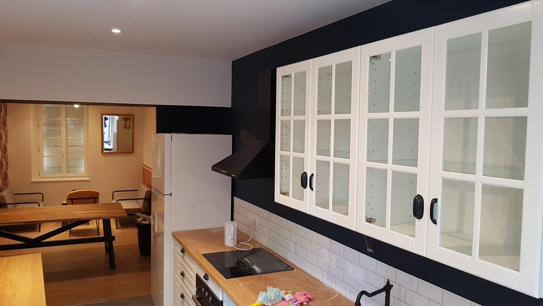 Peinture cuisine géométrique - Sevremont